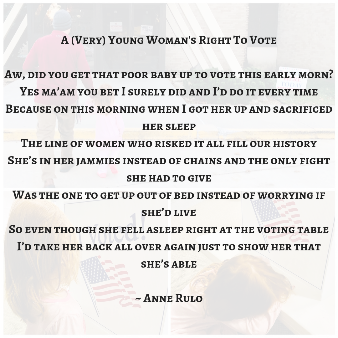A (Very) Young Woman's Right To VoteAw, did you get that poor baby up to vote this early morn_Yes ma'am you bet I surely did and I'd do it every timeBecause on this morning when I got her up and sacrificed her slee.png